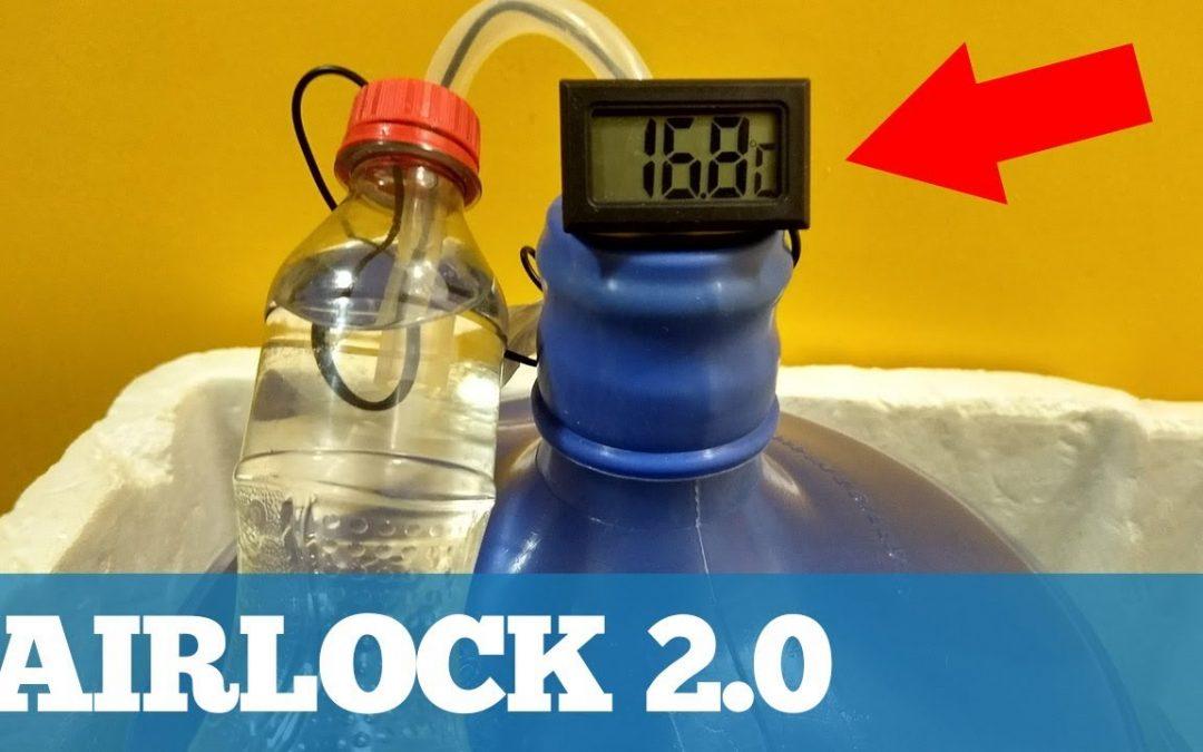 Como montar um Airlock com Termômetro