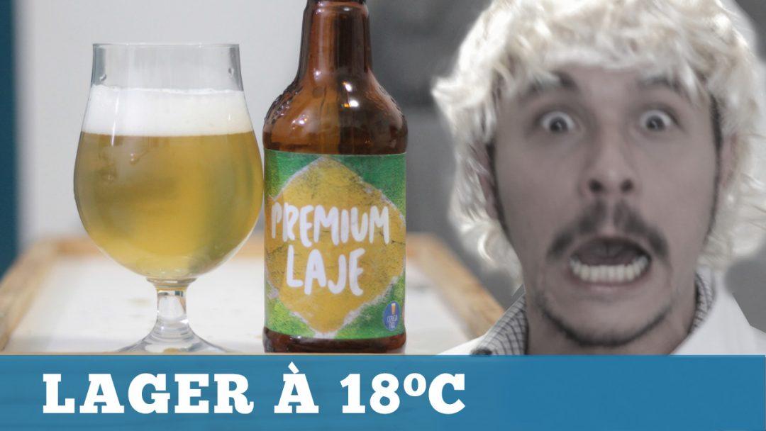 Fiz uma Cerveja Lager à 18ºC!
