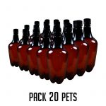 20 garrafas PET de 500ml