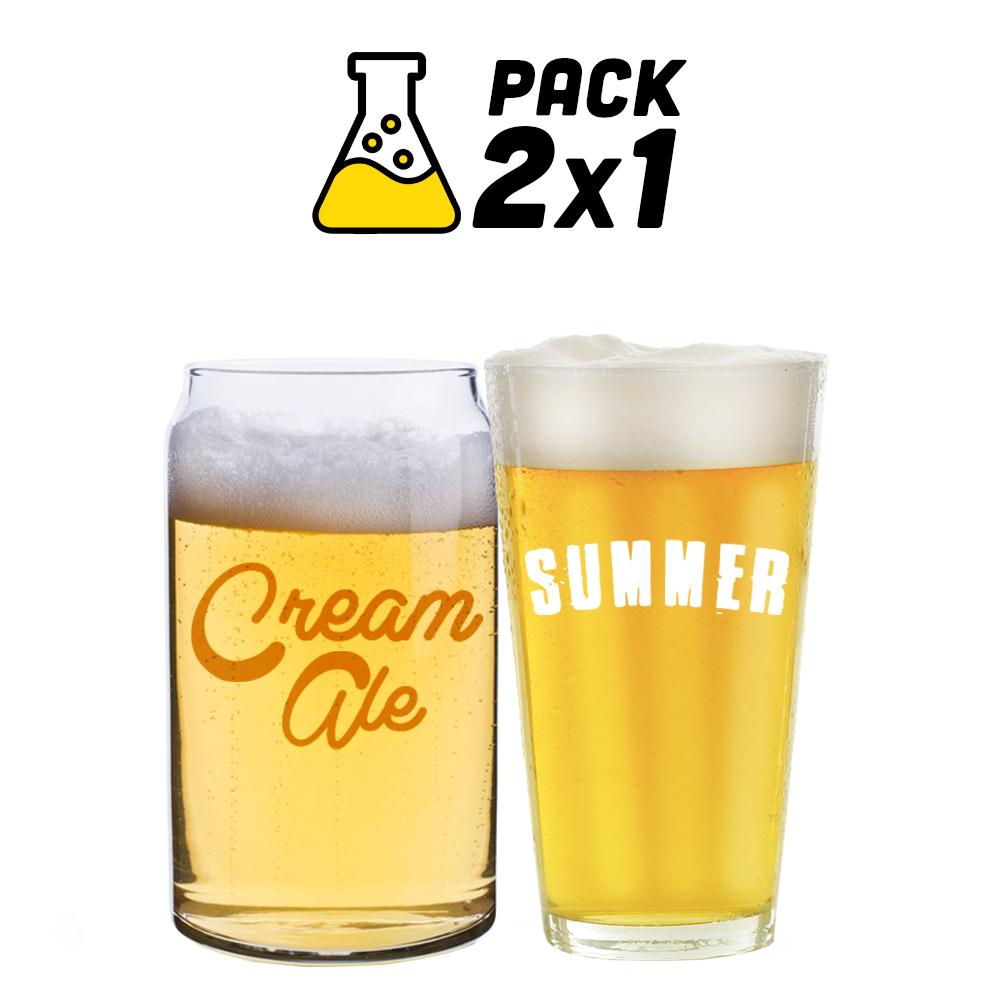 Pack de Receitas 2x1 - Lazy Cream Ale e Summer Ale