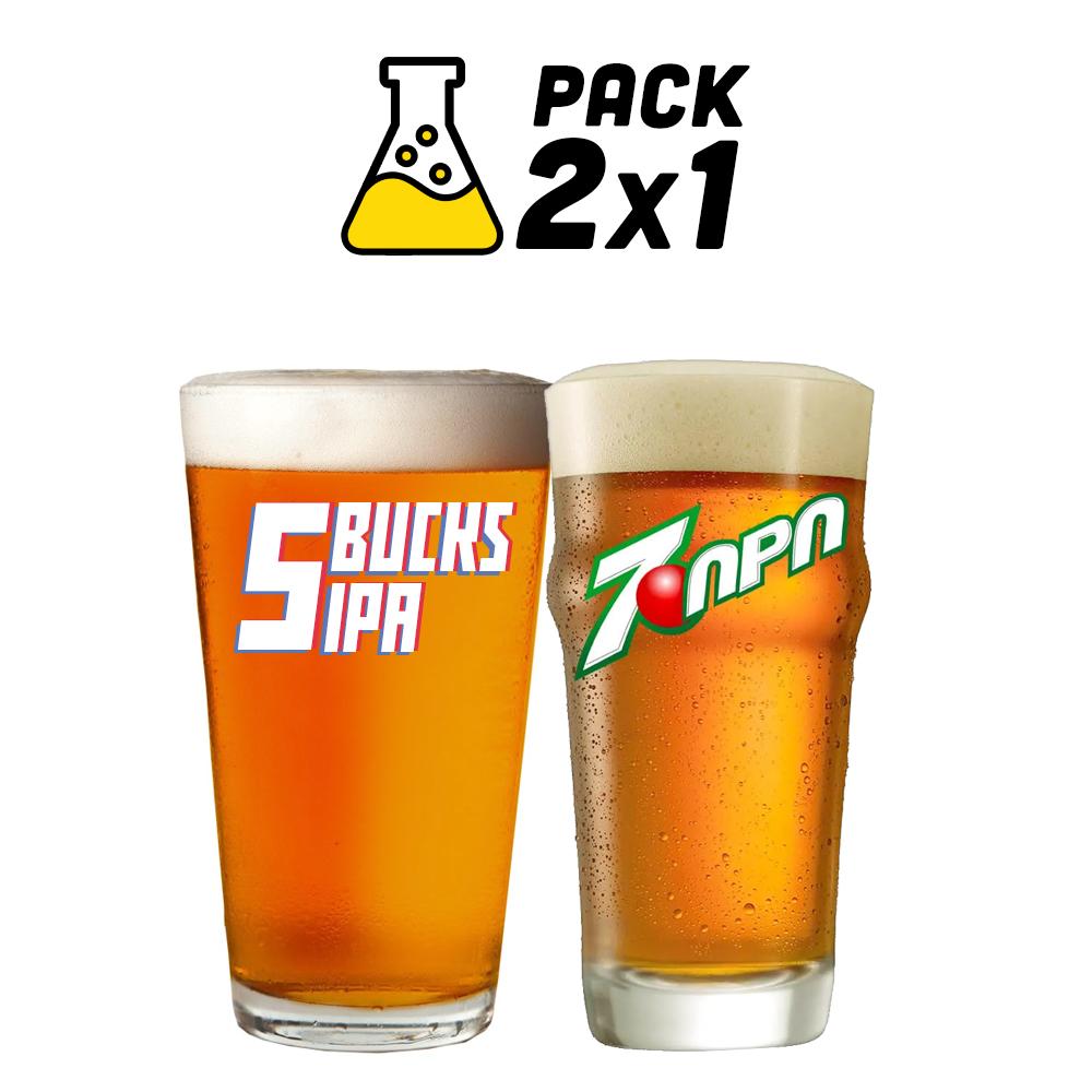 Pack de Receitas 2x1 - 5 Bucks IPA e 7-APA