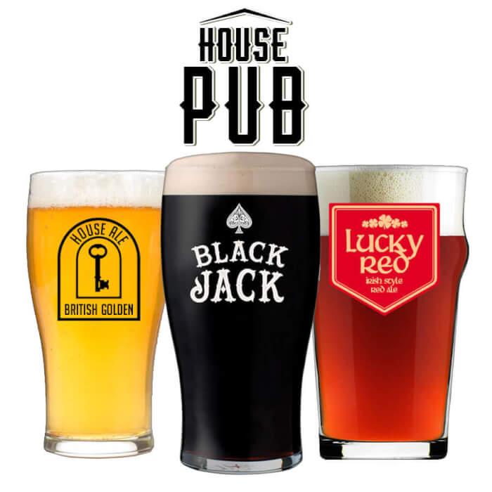 Kit House Pub - 3 Receitas de Cerveja
