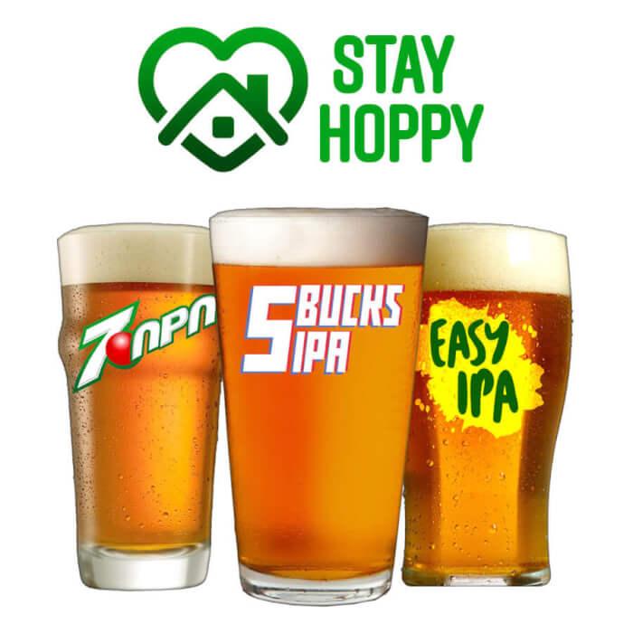 Kit Stay Hoppy - 3 Receitas de Cerveja